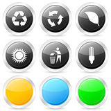 Ecology circle icon set Stock Images