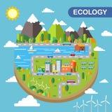 Ecology city scenery stock illustration