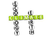 Ecology Climate Crossword Royalty Free Stock Image