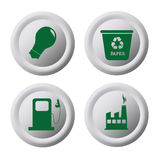 Ecology coins Stock Image