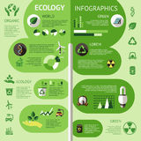 Ecology Colored Infographic Stock Photos