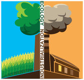 Ecology. Composition on social issues of ecology and industrialization Stock Photo