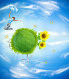 Ecology concept royalty free illustration