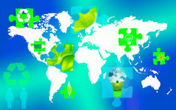 Ecology concept. Concept world map; ecology wallpaper Royalty Free Stock Image