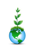 Ecology concept. Environment,green earth Royalty Free Stock Photo