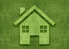 Ecology concept. Green home green world Royalty Free Stock Photography