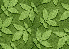 Ecology concept. Green leaves created from grassland Stock Photo