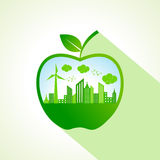 Ecology concept with apple Royalty Free Stock Photo