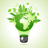 Ecology concept with bulb Stock Images
