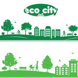 Ecology concept of cityscapes Royalty Free Stock Photos