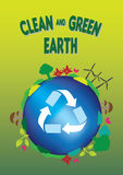 Ecology Concept Clean and Green Earth Stock Photos