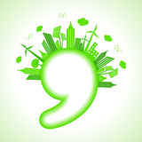 Ecology concept with comma - save nature Stock Image