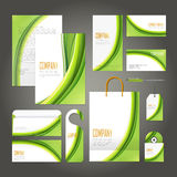 Ecology concept corporate identity template set Stock Photography