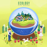 Ecology concept design Royalty Free Stock Image