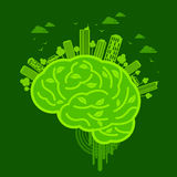 Ecology concept design with brain Royalty Free Stock Photos