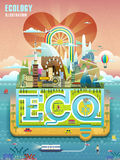 Ecology concept design Stock Images