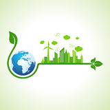 Ecology concept with earth Stock Photo