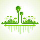 Ecology concept with eco bulb Royalty Free Stock Photography