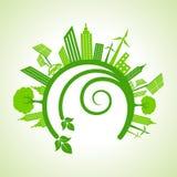 Ecology Concept - eco cityscape Stock Image