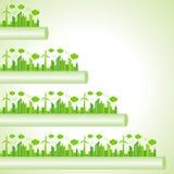 Ecology Concept - eco cityscape Royalty Free Stock Photos