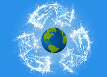Ecology concept, eco, digital art Royalty Free Stock Image