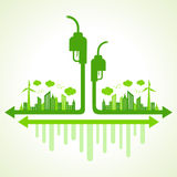 Ecology concept with eco pump Royalty Free Stock Image