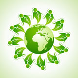 Ecology concept with globe Royalty Free Stock Photo