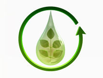 Ecology Concept Green Earth, Turnover Royalty Free Stock Photography