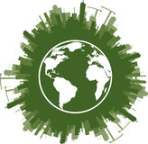Ecology concept of green planet Royalty Free Stock Photos