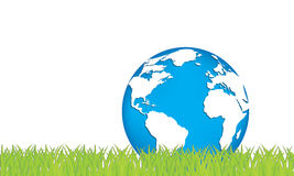 Ecology concept of green planet Stock Photos