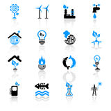 Ecology concept icons Royalty Free Stock Photos