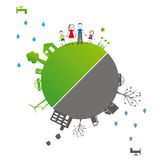 Ecology concept illustration Royalty Free Stock Photo