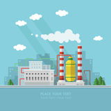 Ecology Concept - industry factory. Flat style vector illustrati Stock Photos