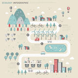 Ecology concept infographic template Royalty Free Stock Image
