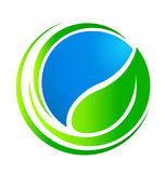 Ecology concept logo Stock Photo