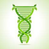 Ecology concept- leafs make a DNA strand Royalty Free Stock Images