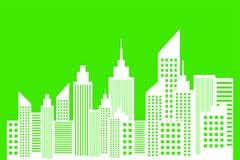 Ecology Concept Of Modern Metropolis. City Skyscrapers Skyline Vector Illustration Stock Image