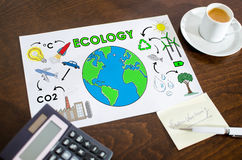 Ecology concept on a paper Royalty Free Stock Photography