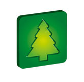 Ecology concept - pine tree icon Stock Photos