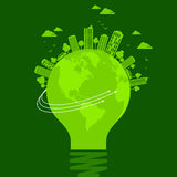 Ecology concept - save earth, illustration Stock Images