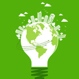 Ecology concept - save earth, illustration Stock Photography
