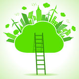 Ecology concept- save nature Stock Photography