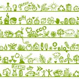 Ecology concept. Seamless pattern for your design Stock Image