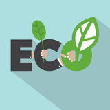 Ecology Concept Typography Design Royalty Free Stock Photos