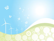 Ecology concept wind driven generators Royalty Free Stock Photos