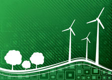 Ecology concept. Wind power Stock Photos