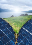 Ecology conception with solar panels Stock Image