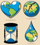 Ecology Concepts 2. 4 conceptual illustrations on environmental subjects Royalty Free Stock Photo