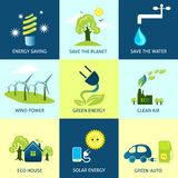 Ecology Concepts Set Royalty Free Stock Photography