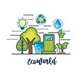 Ecology conservation to natural environment protection. Vector illustration Royalty Free Stock Image